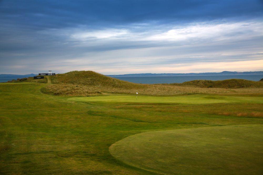 The 11th hole at Gullane Golf Club.