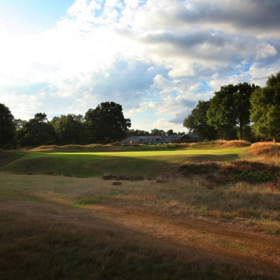 The final hole at Hankley Common Golf Club.