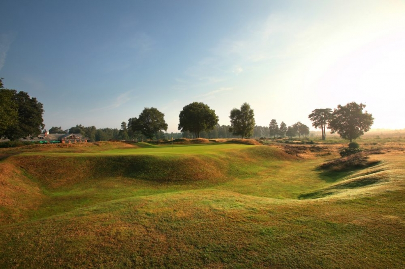 The 18th greensite at Hankley Common Golf Club.