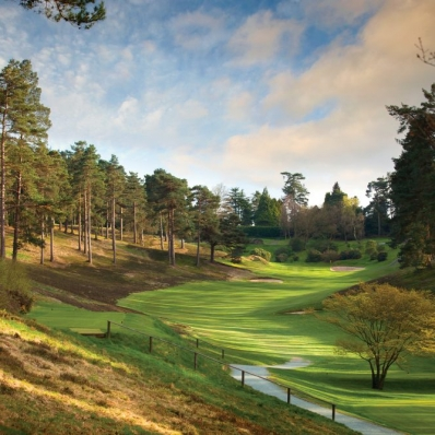 The holes are routed in the valleys at Hindhead Golf Club.