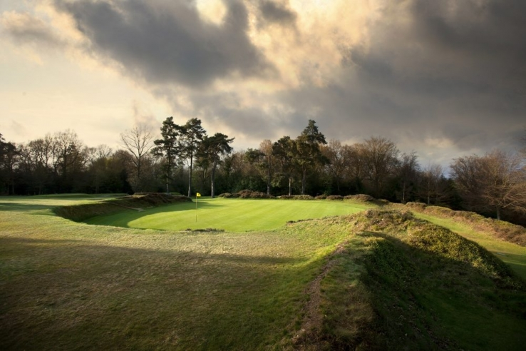 The interesting greens contours at Hindhead Golf Club.