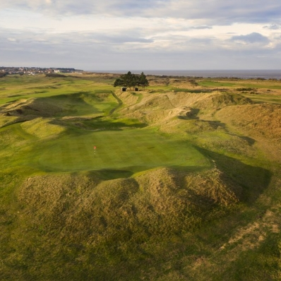 Looking back at the 7th green at Hunstanton Golf Club.
