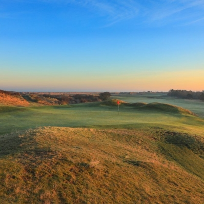 The 7th green at Hunstanton Golf Club.