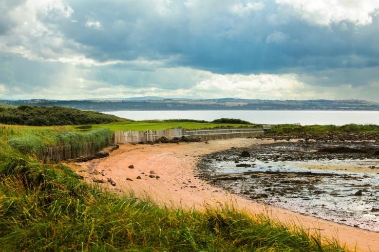 The seaside links of Kilspindie Golf Club.
