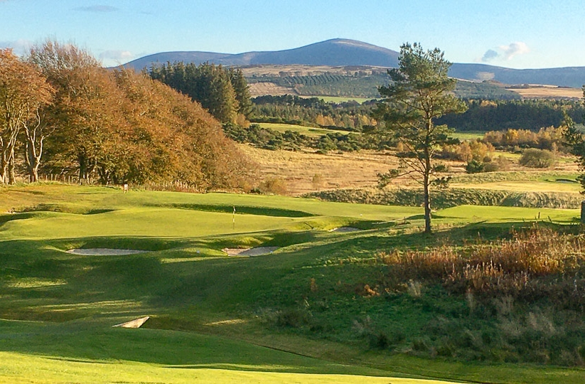 The 7th green at Lanark Golf Club.