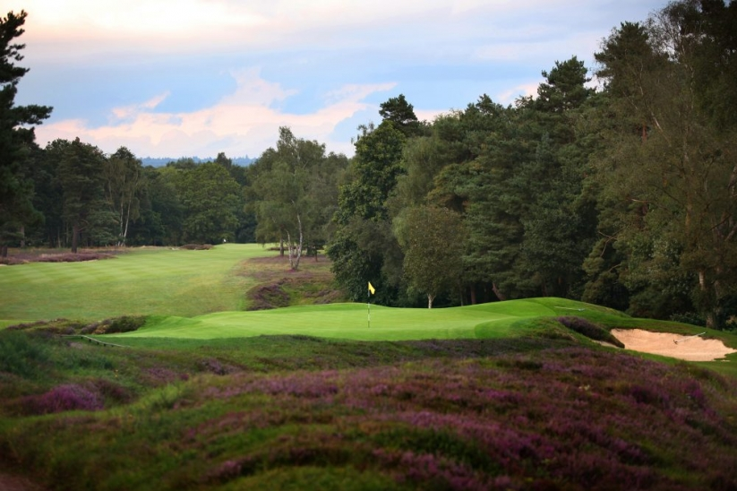The green site at the 7th hole at Liphook Golf Club.