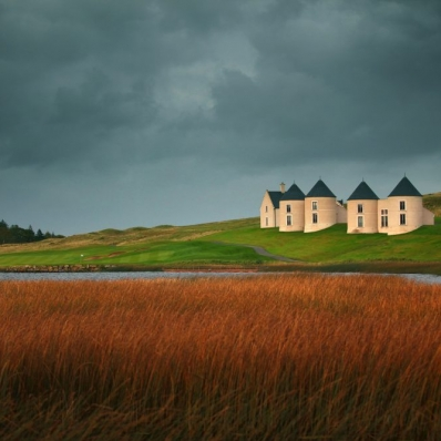 The iconic architecture at Lough Erne Resort.