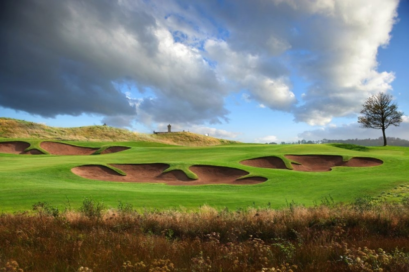 The unique bunkers of Sir Nick Faldo at Lough Erne Resort.