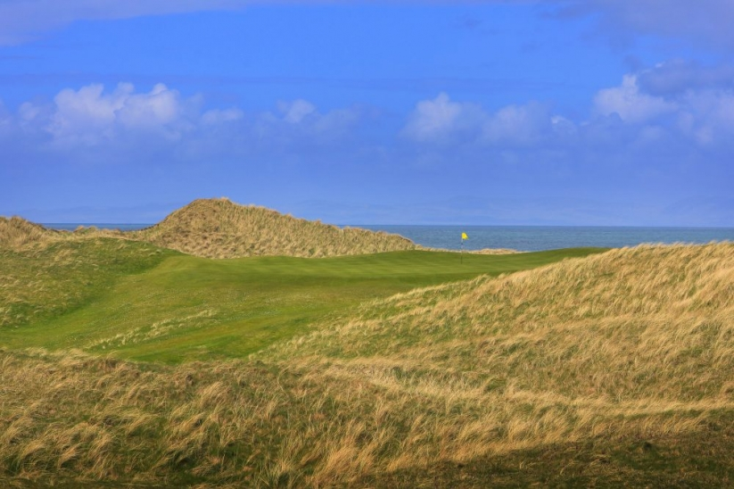 The rugged dunes at Machrihanish Golf Club.