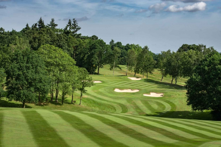 A photo of the strategic Harry Colt bunkering at Moor Park Golf Club.