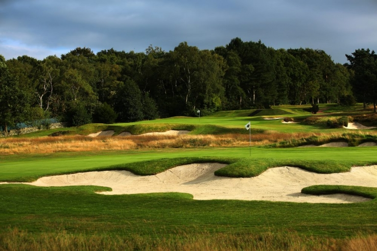 The iconic tongues on bunkers at Moortown Golf Club.