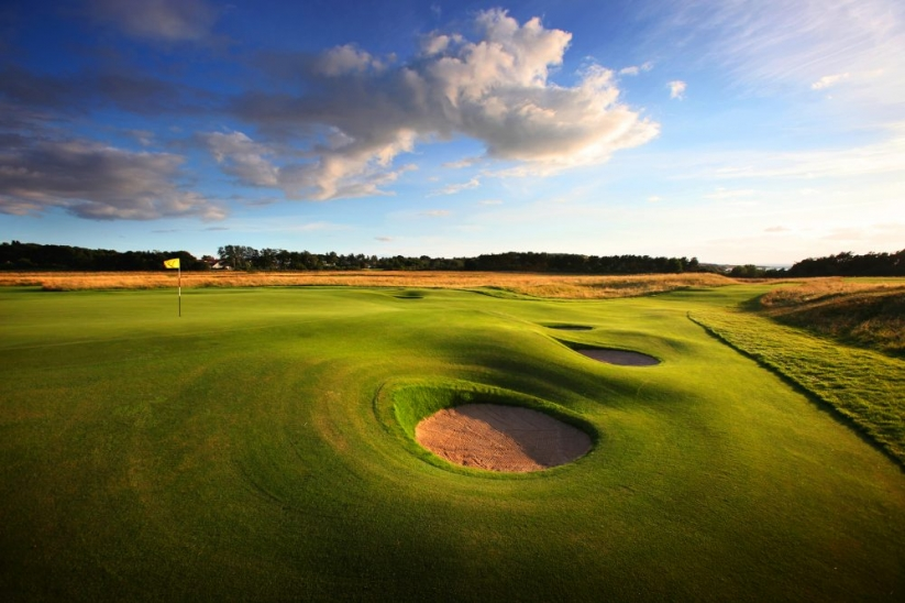 The bunkers at Muirfield are some of the best in the world.