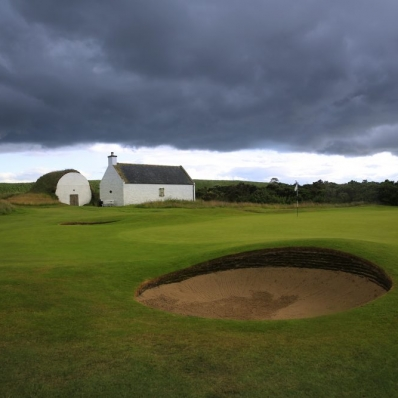 The ice house and bothy at Nairn Golf Club.