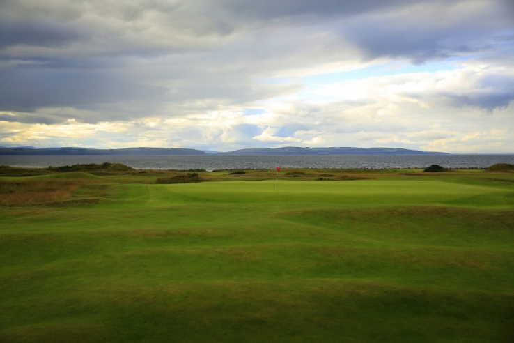 A photo of the approach to the 15th hole at Nairn Golf Club.