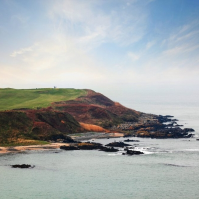 The spectacular Welsh links at Nefyn & District Golf Club.