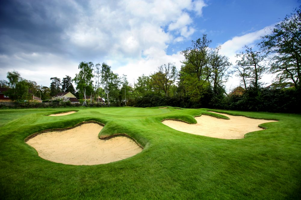 A modern take on classic bunkering at North Hants Golf Club.