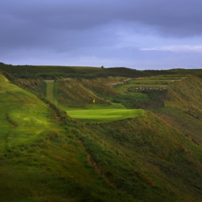 The 13th hole at Old Head Golf Links.
