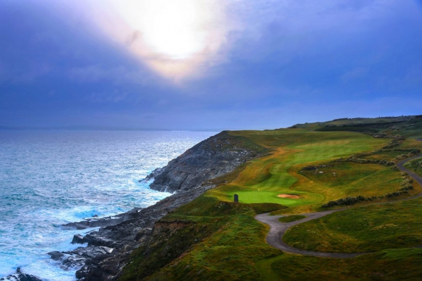 The 17th hole at Old Head Golf Links in Kinsale, Ireland.