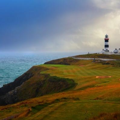 The lighthouse at Old Head Golf Links, Kinsale.