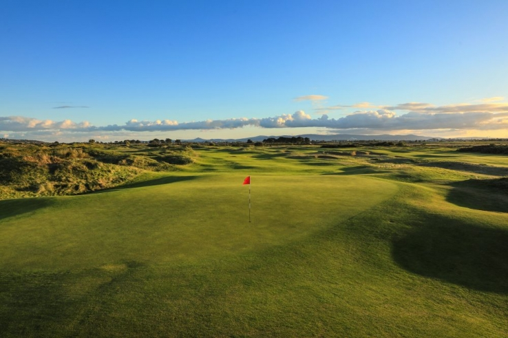 The 12th green at Portmarnock Hotel & Golf Links.