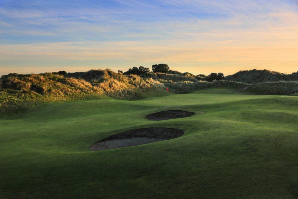 The pot bunkers greenside at Portmarnock Hotel & Golf Links.
