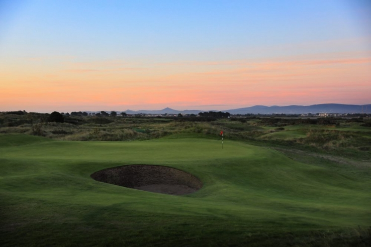 The 17th hole at Portmarnock Hotel & Golf Links.