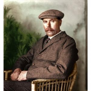 Colourised portrait of James Braid.