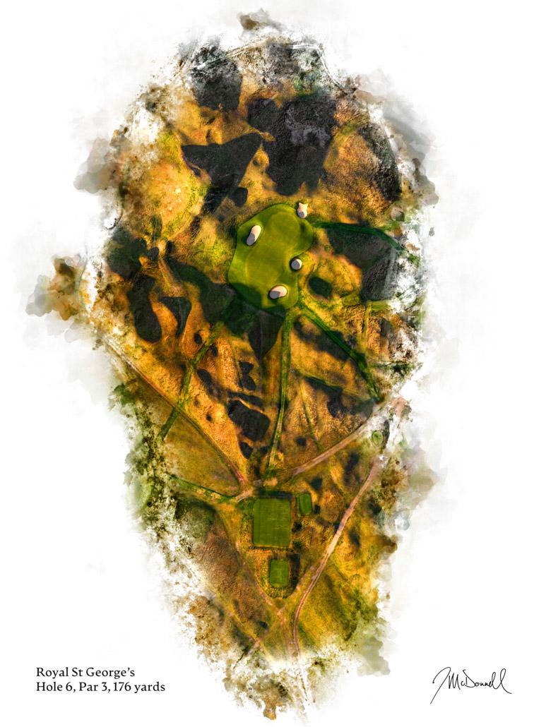 6th Hole at Royal St George's Golf Club