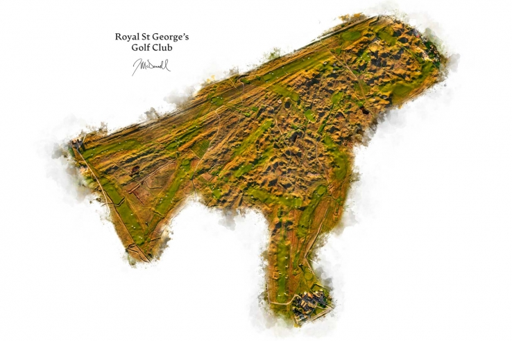 A full course map from Joe Mcdonnell of Royal St George's Golf Club.