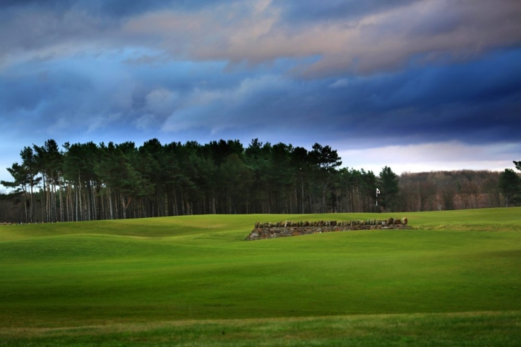 Dry stone walls come into play at The Renaissance Club.