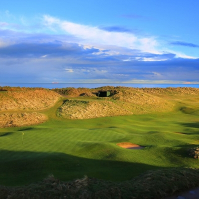 The 4th hole at Royal Aberdeen Golf Club.
