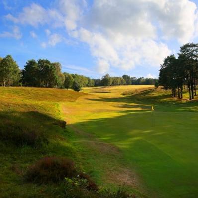 The 17th hole at Royal Ashdown Forest Golf Club.