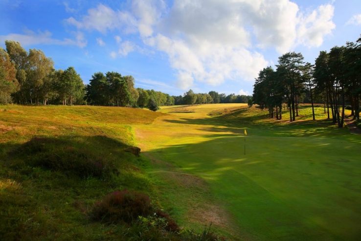 The 17th hole at Royal Ashdown Forest Golf Club.