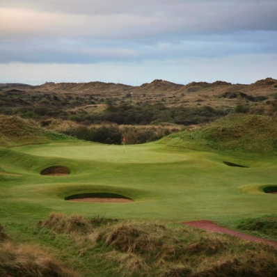 The 12th hole at Royal Birkdale Golf Club.