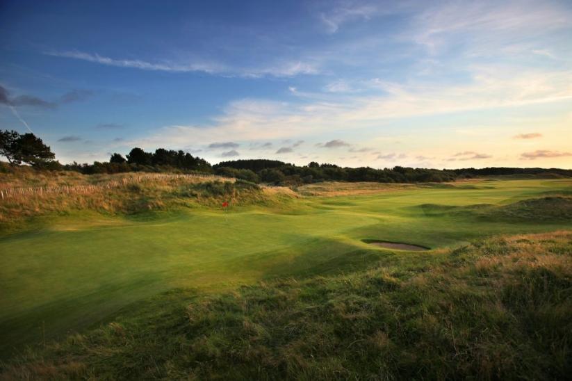 The 17th hole at Royal Birkdale Golf Club.