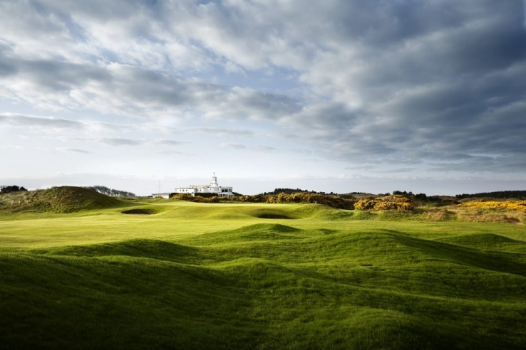 The 9th green at Royal Birkdale Golf Club.