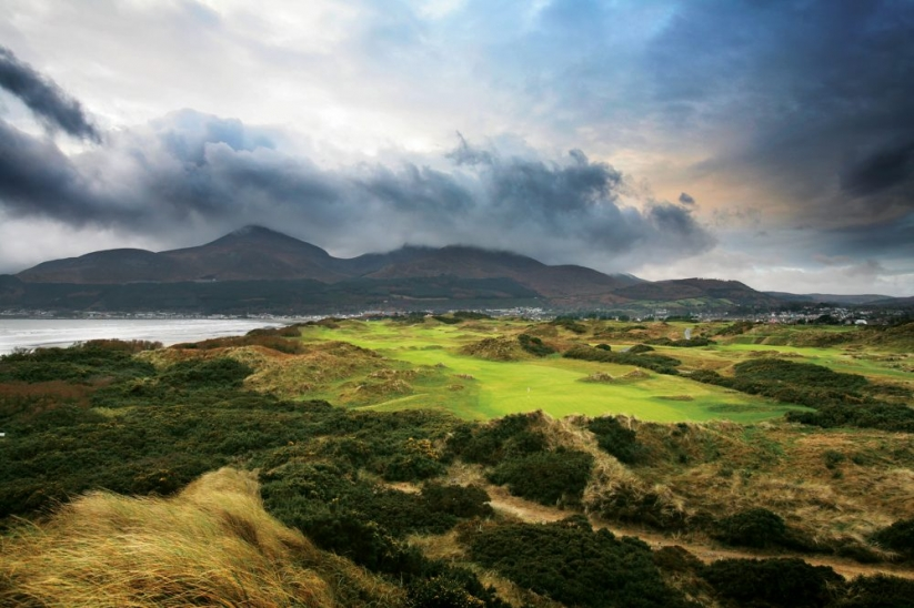 The 4th hole at Royal County Down Golf Club.