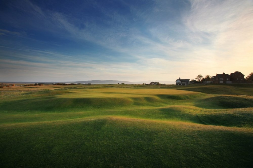 The 18th, or Home Hole, at Royal Dornoch.