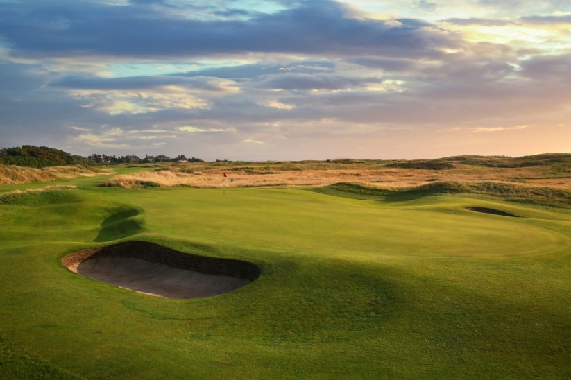 The 7th hole at Royal Liverpool Golf Club.