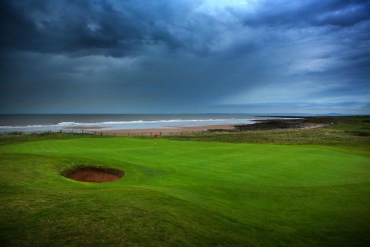 The coastal links of Royal Porthcawl Golf Club.
