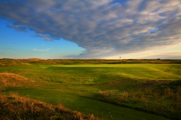 The links at sunset at Troon.