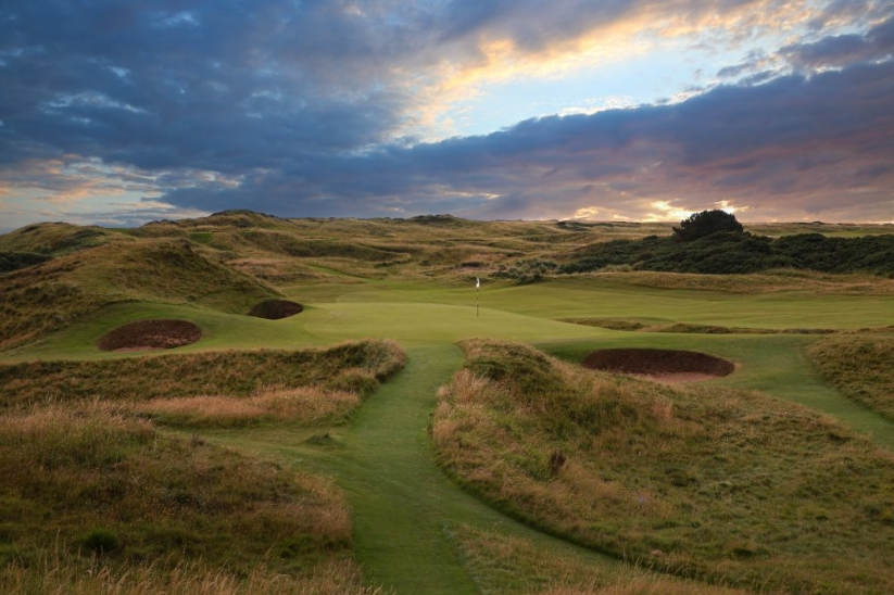 The par 3 8th known as The Postage Stamp at Royal Troon Golf Club.