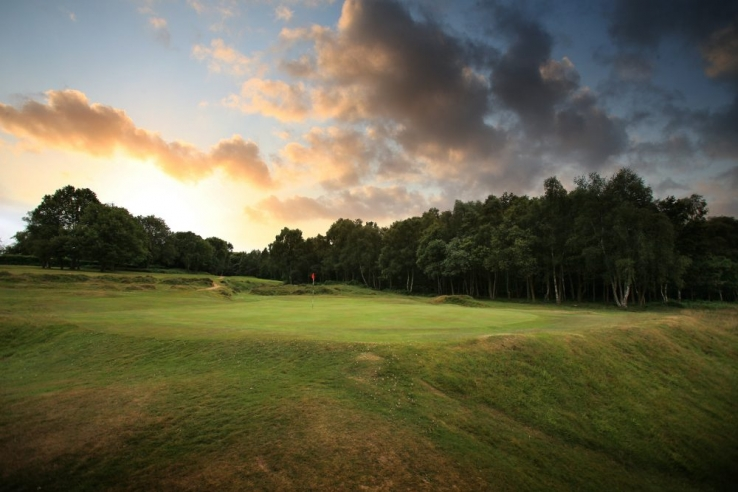 The bunker-less 14th hole at Royal Ashdown Forest Golf Club.