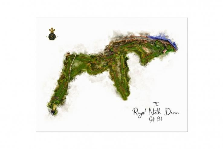 A full course WaterMap of Royal North Devon Golf Club by Joe Mcdonnell.