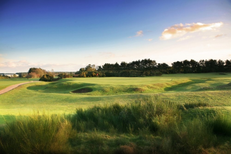 The raise greens at Scotscraig Golf Club are seen in this photo.