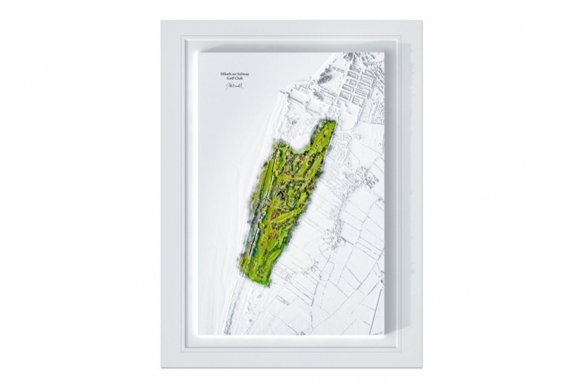 A 3D watermap of Silloth on Solway Golf Club.