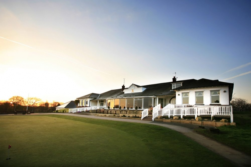 The clubhouse at Southport & Ainsdale Golf Club.