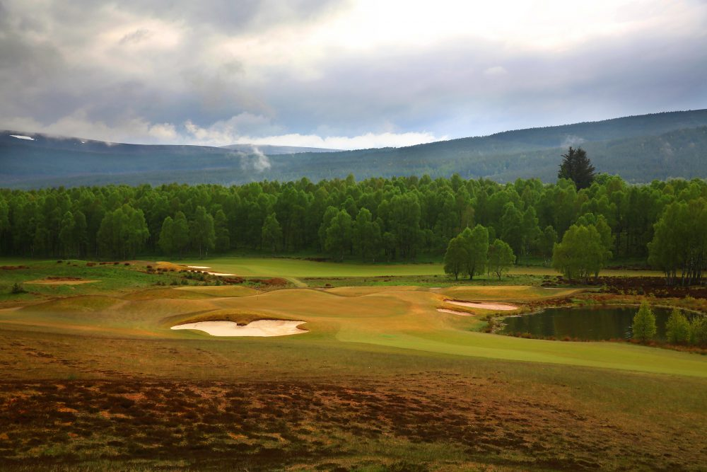 Hole 15 at the Spey Valley Golf Course in the Cairngorms.