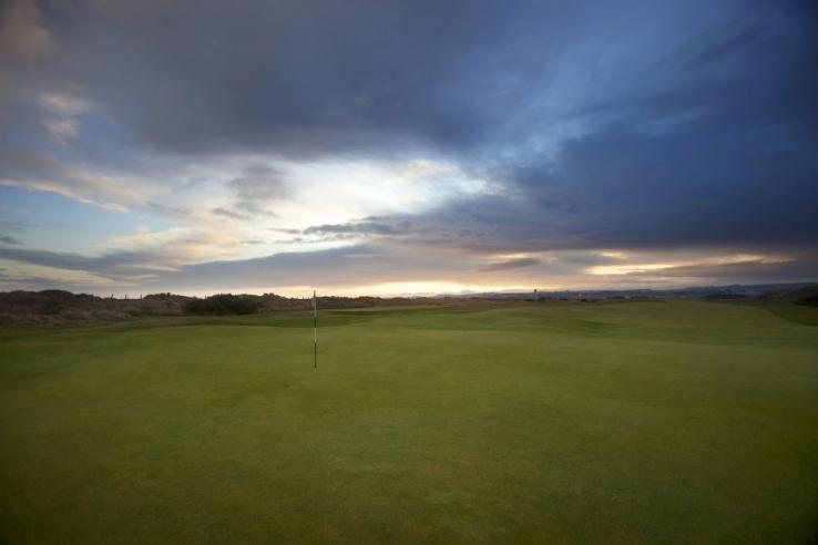 Sundown at St Andrews Jubilee Course.