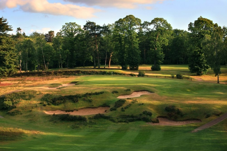 The most iconic hole at St Georges Hill Golf Club is the 8th shown here.